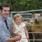 Charollais sheep exhibitors Clara Bell, and dad Trevor, from Comber. Picture: Julie Hazelton/Kevin McAuley Photography Multimedia