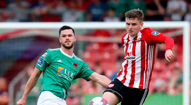 Rallying call: Derry City ace Ronan Hale hopes to stun Cork