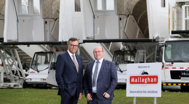Pictured (L-R) Alastair Hamilton, CEO, Invest Northern Ireland and Ronan Mallaghan, CEO, Mallaghan Engineering
