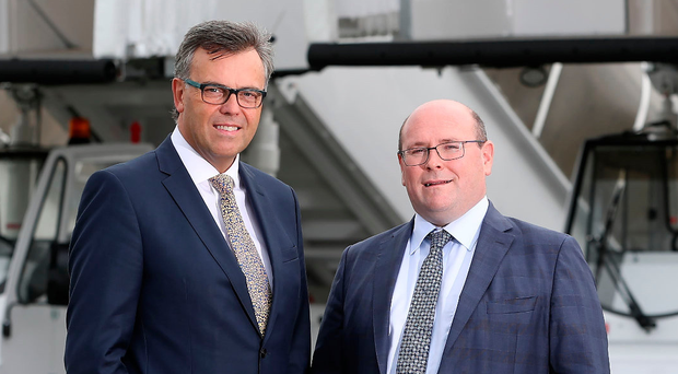 Ronan Mallaghan, Mallaghan Engineering (right), with Alastair Hamilton, Invest NI