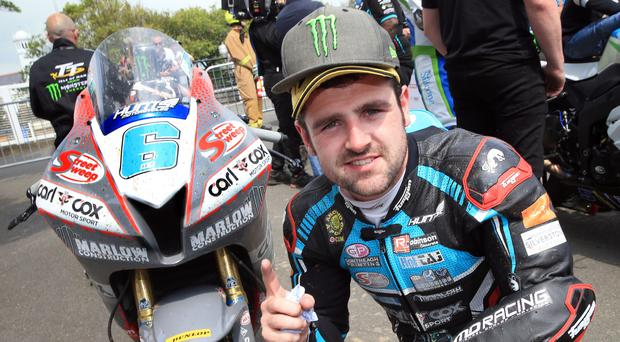 David is a fan of road racer Michael Dunlop,seen here at the Isle of Man TT this year. His brother William was tragically killed last month