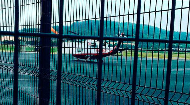 The Trump chopper in Newtownards sparked speculation that the President was in town
