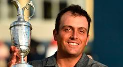 Silver lining: Francesco Molinari with the Claret Jug