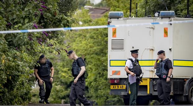 Police and ATO at the scene of a security alert on the Whitewell road in north Belfast on July 24th 2018 (Photo by Kevin Scott for Belfast Telegraph)