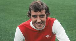 Sammy Nelson played for Arsenal and Northern Ireland. (Photo by Aubrey Hart/Daily Express/Hulton Archive/Getty Images)