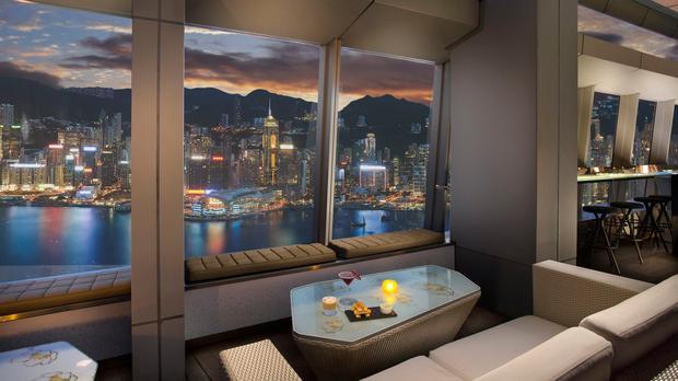 The Ozone Bar at the Ritz Carlton Hong Kong, billed as the