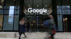 Tech giant Google is close to signing a deal with developers Paddy McKillen and Belfast-born Johnny Ronan to acquire the Treasury Building in Dublin for a figure in excess of €115m (£102m), it has emerged. (Jonathan Brady/PA)