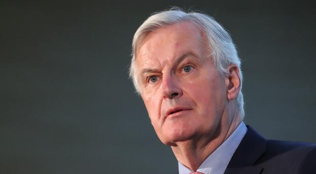 Michel Barnier also made clear that Brussels still has reservations about Mrs May's proposed 'backstop' arrangement for the Irish border (Niall Carson/PA)