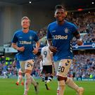 Decisive say: Alfredo Morelos celebrates hitting an away goal for Gers
