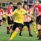 Have that: Co Antrim ace Cameron Stewart shows his delight after finding the net against Southampton