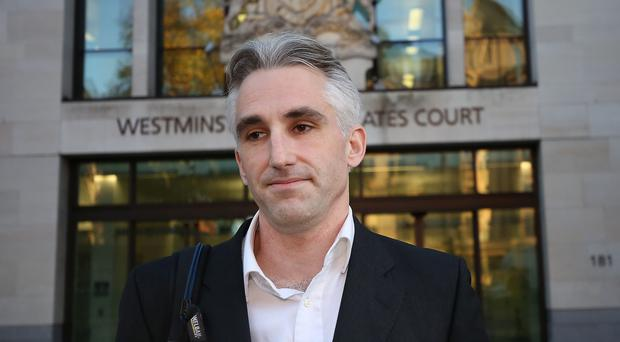 Christof King leaves Westminster Magistrates' Court in London (Philip Toscano/PA)