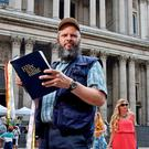Arrested: Allan Coote said that nobody had complained about his preaching outside St Paul's
