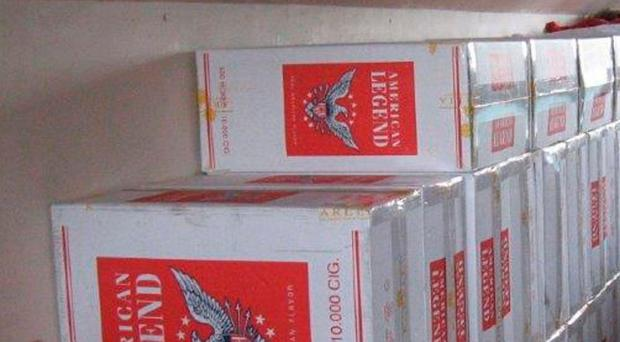 Seized: Some of the cigarettes