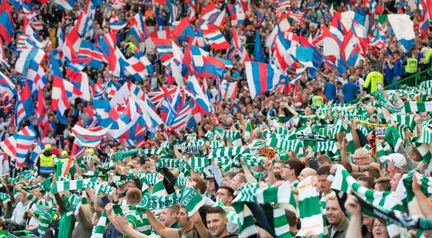 Passionate support: few away fans will go to Old Firm derby