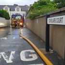 The Fire Service tackled the flooding with water pumps in Dromore, Co Down. Photo by Philip Magowan / Press Eye.