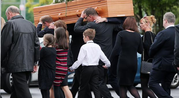 Funeral for Henry Turley at Mater Dei Church, in Crumlin. The 14-year-old died after falling from a balcony while on a family holiday in Spain. Picture by Jonathan Porter/PressEye