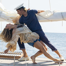 Making waves: Josh Dylan as Bill and Lily James as the young Donna in Mamma Mia! Here We Go Again