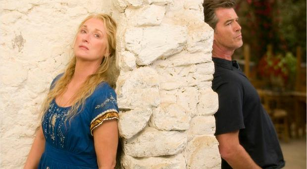 Summer romance: Meryl Streep (Donna Sheridan) and Pierce Brosnan (Sam Carmichael) in the Mamma Mia movie