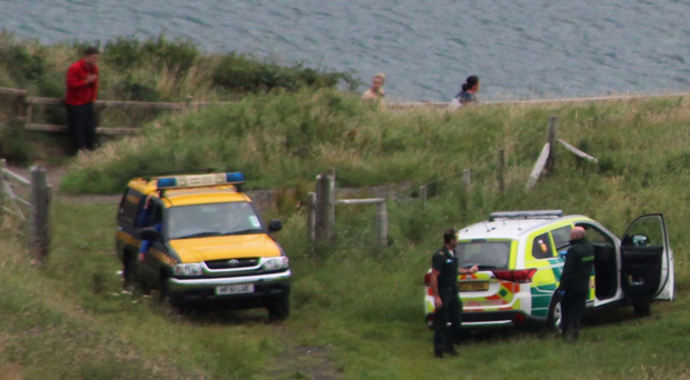 Emergency services attend an incident at Carrick-a-Rede after a tourist required treatment