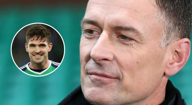 Chris Sutton warned Rangers not to sign Kyle Lafferty (inset).