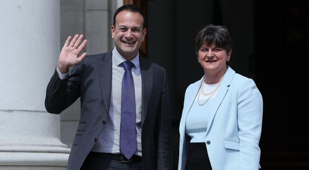 DUP leader Arlene Foster has accused Taoiseach Leo Varadkar of interfering in Northern Ireland affairs (Brian Lawless/PA)