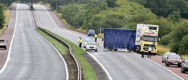 Male pedestrian killed in M1 lorry incident