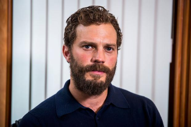 Jamie Dornan helps launch NIPanC at the Mater Hospital in Belfast. Pic: Liam McBurney/PA Wire