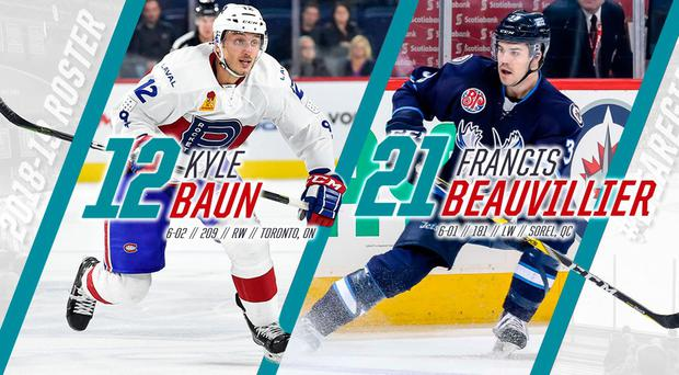 Belfast Giants' new signings Kyle Baun and Francis Beauvillier