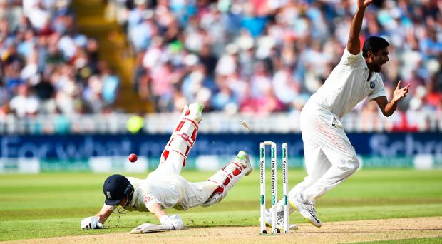 Joe goes: Ravi Ashwin celebrates as Joe Root is run out