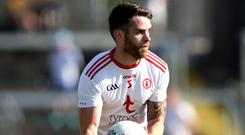 Major doubt: Tyrone's Ronan McNamee is in a race against the clock to get fit for Sunday's clash against Donegal in Ballybofey