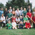 Ambassadors and children from the Home Nations and UK FA representatives at the launch of McDonalds UK's new football sponsorship programme. Back row (l-r): Melissa Palmer, Paul McNeill, Caroline Weir, Freddie Griffiths-Jones, Sara Pennant Jones, Jordan Pickford, McDonalds UK COO Jason Clark, Rachel Furness, Charlie Mulgrew, Heather Wright. Front row (l-r) Nikita Parris, Corry Evans, James Chester and Natasha Harding