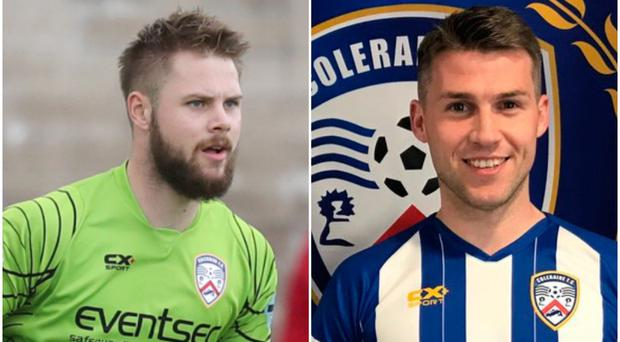 Coleraine goalkeeper Chris Johns (left) is hoping new signing Stephen Lowry can make a telling impact on the squad.