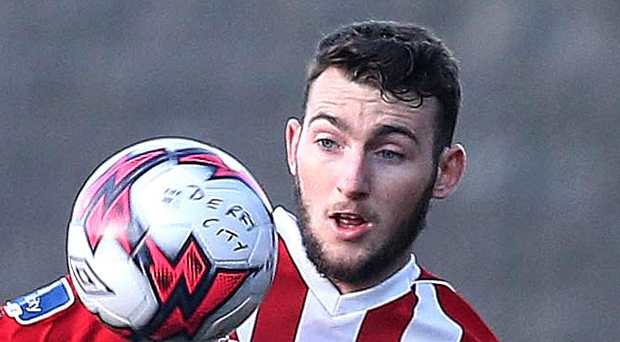 Hot shot: Jamie McDonagh scored his first goal for Derry