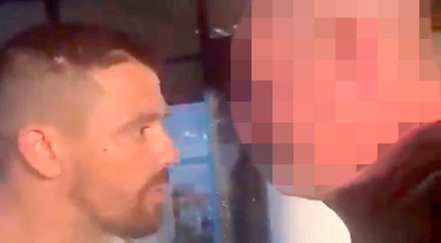 Rangers legend Nacho Novo confronts Celtic fan after disgusting chant