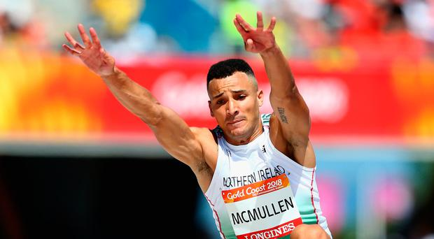 Long jumper Adam McMullen is the first of the 13 NI and Ulster athletes who will be competing today as part of the 42-strong Irish squad in the European Athletics Championships in Berlin. File image