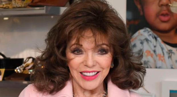Disappointed: Dame Joan Collins