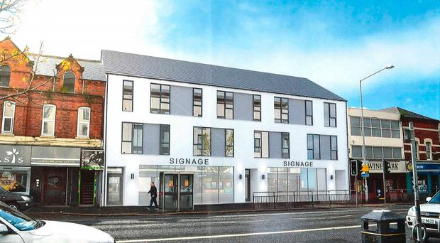 The planned three-storey project on the Upper Ormeau Road, which would feature two ground floor units and eight apartments