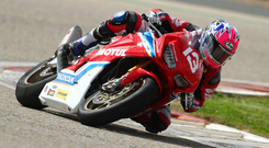 Local hero: Lee Johnston on his Honda Fireblade