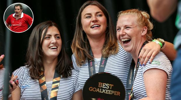Ireland women's hockey stars were helped to their World Cup silver medal by Ulster's Heineken Cup winner Gary Longwell (inset).