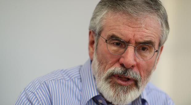 Gerry Adams provided a 'heavenly voice' at a play celebrating 30 years of the West Belfast Festival (Brian Lawless/PA)