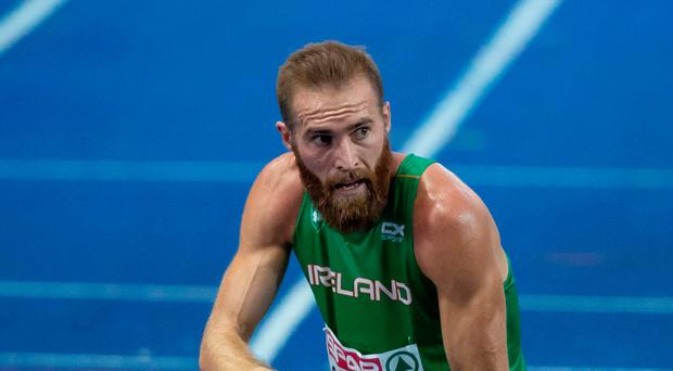 Tough conditions: Belfast man Stephen Scullion after finishing the 10,000m final in Berlin in a time of 29 minutes, 47 seconds