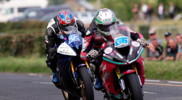 Local rivals: Co Derry aces Paul Jordan and Adam McLean locked horns at Armoy recently and will do battle again
