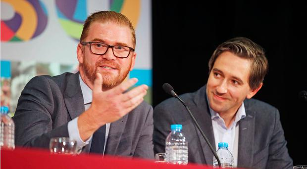 The DUP's Simon Hamilton and Simon Harris TD took part in a lively leaders' debate, one of a range of events at this year's Feile. The festival has been running since 1988