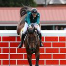 Early marker: Daniel Coyle won on the opening day of the Dublin Horse Show