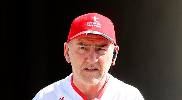 Top target: Mickey Harte is hoping to mastermind a fourth All-Ireland title triumph for Tyrone since 2003
