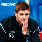 Clued up: Steven Gerrard has watched opponents Maribor