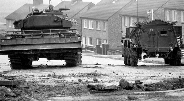 Archive picture of the Troubles (PA)