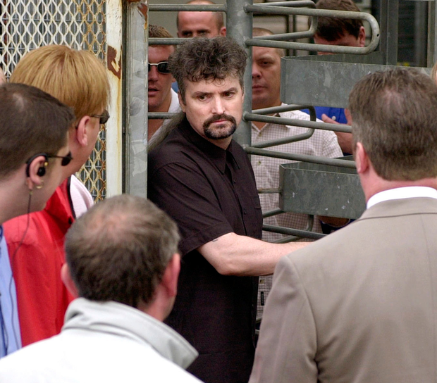 Michael Stone walking free from the Maze prison back in 2000