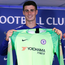 Relishing it: New Chelsea goalkeeper Kepa Arrizabalaga has set his sights on trophies at Stamford Bridge
