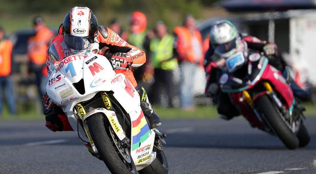 Main man: Conor Cummins races to victory during the Supersport race at the Ulster Grand Prix
